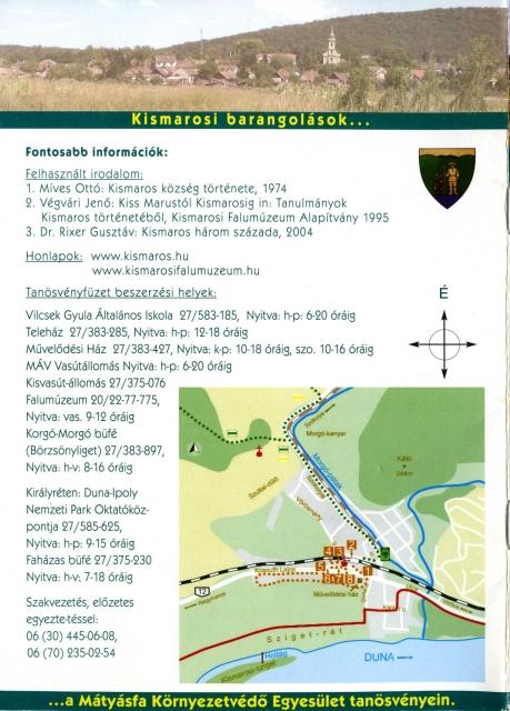 Kismarosi barangolások a Mátyásfa Környezetvédő Egyesület tanösvényein - Vezetőfüzet (2006) - hátlap