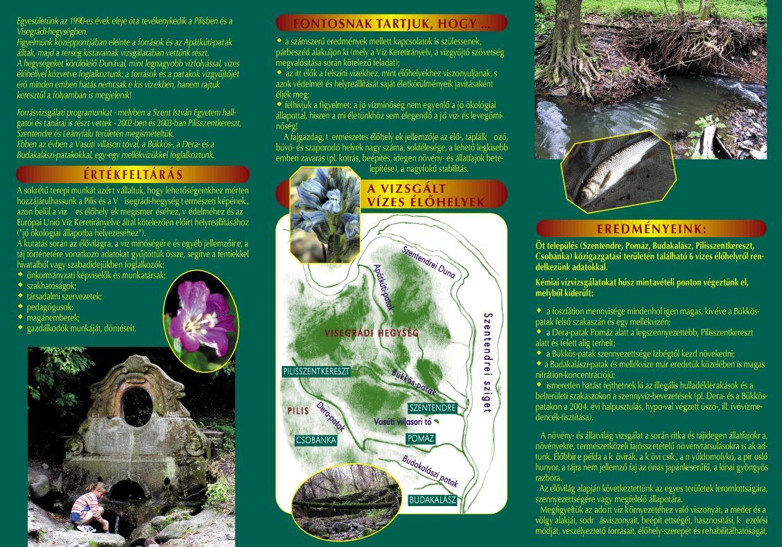 Kék Forrás Egyesület: A Pilis- és a Visegrádi-hegység vizes élőhelyei - 2. oldal