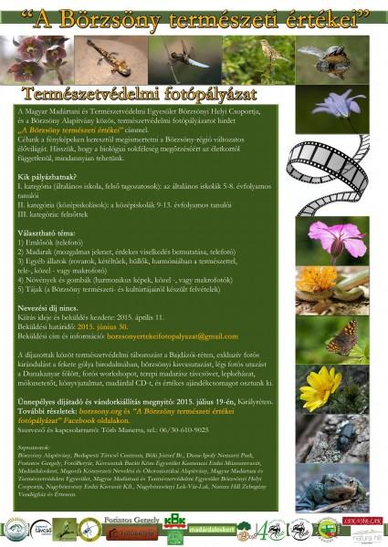 Börzsöny természeti értékei fotópályázat A4 plakát_végleges_web